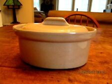 CASSEROLE, OVAL STONEWARE POTTERY, SMALL BUT NICE 1960S