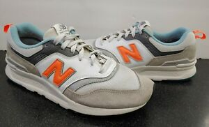 Men's New Balance 997 Shoes Cloud Grey Dark Mango Orange (CM997HAG) Size 9