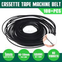 100X Riemen Antriebsriemen 40-130mm für Kassettendeck Cassette Tape Deck Belt