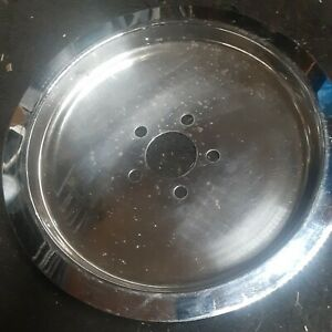 """Solid Harley Rear Pulley Cover  12.5 """""""