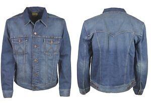 Mens Wangler Vintage Regular Fit Western Denim Jackets Sizes S to 4XL