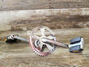 SCHWINN COLLEGIATE 3 Crank Sprocket Pedels Used Part Vintage Bike Bicycle