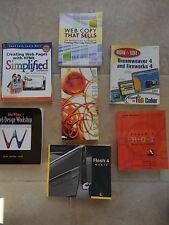 Collection Joblot 7 Books WEB Design Computing Dreamweaver Fireworks Flash 4 & 5
