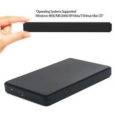 USB 2.0 Hard Drive External Enclosure 2.5 inch SATA HDD Mobile Disk Box Cases @Q