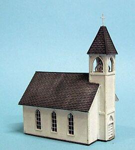 Blair Line (HO-Scale) #169 CHURCH * Wood Laser Kit - NIB