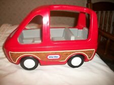 Little Tikes Vintage Dollhouse Red Van Vehicle Station Wagon