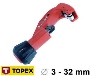 Rohrschneider Rohrabschneider Kupfer Alu Eisen Ø 3-32mm Klempner Werkzeug TP033