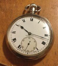 Solid Silver Terminus Pocket Watch. Dennison Case. Hallmarked Birmingham 1923.