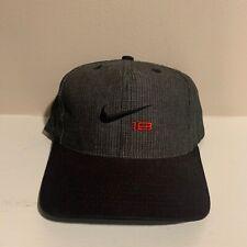 VTG Nike Tour 18 Nike Golf 1990s Gray Strapback Hat Adjustable Cap One Size