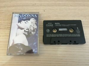 Madonna _ True Blue _ MC K7 Musicassetta _ 1986 Sire Italy Black Version RARE!!