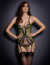 AGENT PROVOCATEUR ELECTRA BASQUE GREEN/BLACK BNWT SIZE 32B RRP £305
