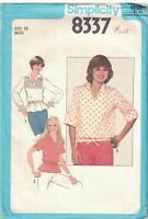 Vintage Simplicity SEWING Pattern 1970's Pullover Top 12 SEW