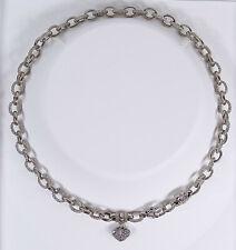 Original Judith Ripka 18k Diamond Heart Couture Necklace
