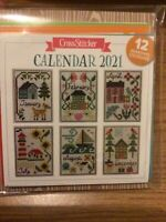 2021 Calendar With Cross Stitch Charts To Make Folk Art Sampler