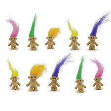 90s Party Table Decorations - Ten Mini Trolls - 2cm tall - Super cute