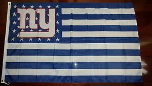 New York Giants 3x5 American Flag. US seller. Free shipping within the US!!!