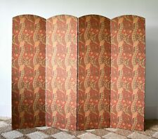 Arts & Crafts Liberty William Morris Style 4 Panel Fabric Screen Room Divider