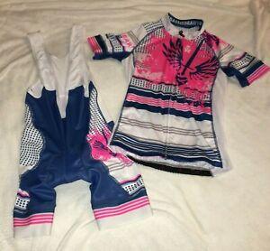 Betty Designs BADASS women's cycle jersey and bib padded 21-2624