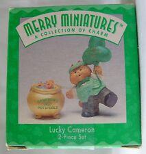 Merry Miniatures:A Collection of Charm Lucky Cameron 2 Piece Set Nib