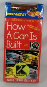 """1996 Hot Wheels VHS """"How A Car Is Built"""" Plus Mustang GT K mart Exclusive - 🆕"""