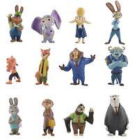 12 Pack Zootopia  Officer Judy Hopps Nick Bogo Action Figure Kids Toys Gift