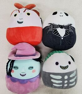Lot of (4) Squishmallows Disney©️ Halloween The Nightmare Before Christmas NWT