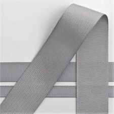 """Silver Gray 3/8"""" Grosgrain Ribbon neatly wound 5 yards"""