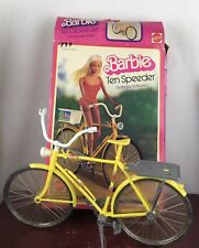 Vintage 1975 Barbie Yellow Ten Speeder Bicycle( Missing Basket) With Box