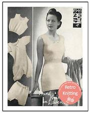 1940s Wartime Lady's Underwear Vintage Knitting Pattern - Copy