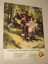 KODAK PELLICOLA RULLINI FOTOGRAFIA=ANNI '50=PUBBLICITA=ADVERTISING=WERBUNG=667
