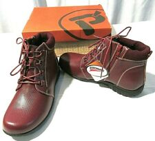 PROPET WOMEN'S LEATHER BURGUNDY DELANEY ANKLE LACE BOOTS SIZE 7 X(2E ) NWB