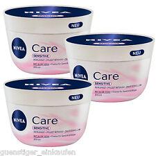 (28,40 €/L ) 3 x 200ml Nivea Soin sensible Crème pour Visage & corps aloe vera