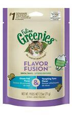 Feline Greenies Dental Cat Treats Ocean Fish & Tempting Tuna 2.5oz, 3 Pack