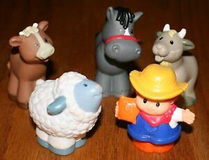 5 Fisher Price Little People Farmer Farm Barnyard Animals LPPL Lot N