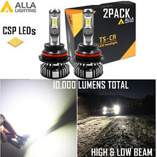 Alla Lighting Super Short  LED 9007 Headlight High Low Beam Bulb Xenon White 2x