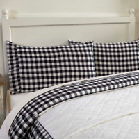 ANNIE BUFFALO BLACK CHECK Standard Pillow Case Set Farmhouse Ruffle VHC Brands