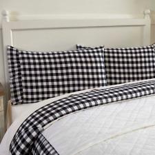 ANNIE BUFFALO BLACK CHECK Pillow Case Set Farmhouse Ruffle Primitive VHC Brands