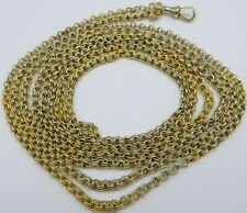 Antique 64 inch 15ct yellow gold muff guard long chain necklace Weighs 53.5 grms