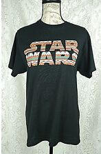 Disney Star Wars womens graphic T-shirt size medium black short sleeve Aztec