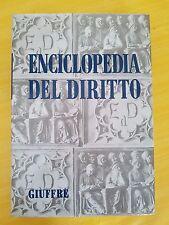 ENCICLOPEDIA DEL DIRITTO - GIUFFRE' EDITORE - VOLUME I