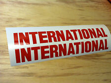 """TWO -  15"""" x 2"""" INTERNATIONAL HARVESTER DECAL STICKER DIESEL TRUCK ANY COLOR"""