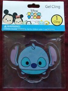 NIP Disney Tsum Tsum Gel Cling  Sticker Stitch RARE