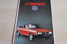 105512) Fiat Ritmo Cabrio Prospekt 06/1983