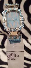 Reloj de lujo diseñador por Jimmy cristal adornado con Swarovski-Opal 538-Azul