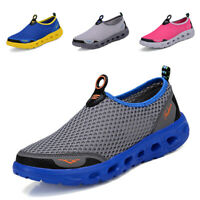 Mens Womens Shoes Fashion Sneakers Breathable Mesh Shoes Casual Slip On Loafers