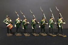 Lot de 7 Dragons à pied Empire Soldat Plastique 58mm Segom Historex #89