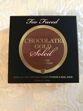 Too Faced Chocolate Gold Soleil Long Wear Gilded Bronzer Luminous FULL SZ $30