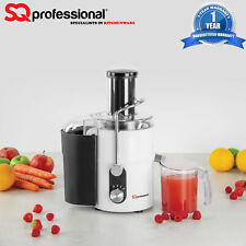 800W Power Juicer Electric Juice Extractor Whole Fruit & Veg White Centrifugal