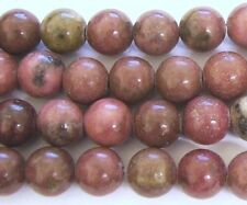 "16"" Gemstone Rhodonite 10mm Round Beads"