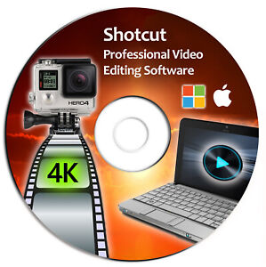 Shotcut Professional HD Video Editing Software Suite-4K Movie-Windows & Mac-CD